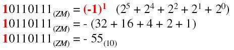Zapis liczb binarnych ze znakiem